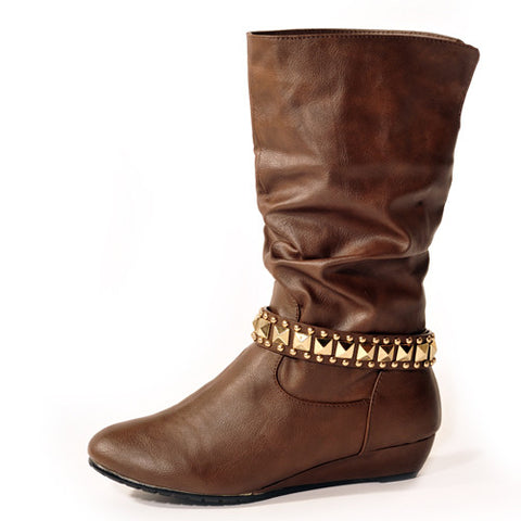 ROXY Wedge Brown Stylish Winter Boots