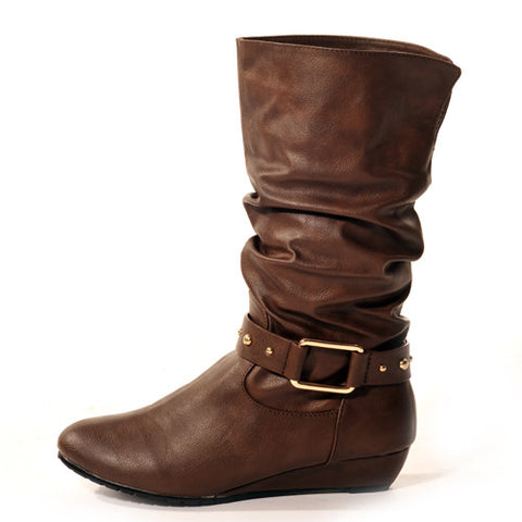 STOMP Wedge Brown Stylish Winter Boots