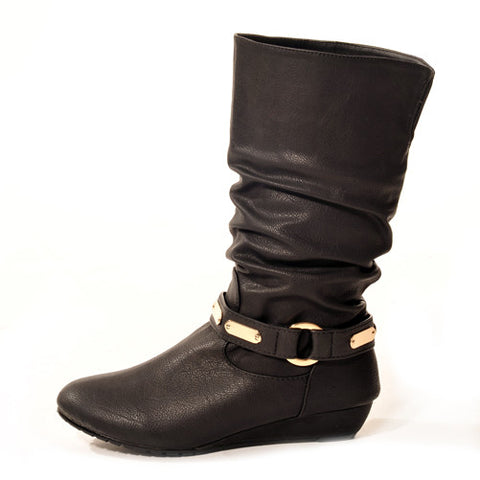 KODE Wedge Black Stylish Winter Boots