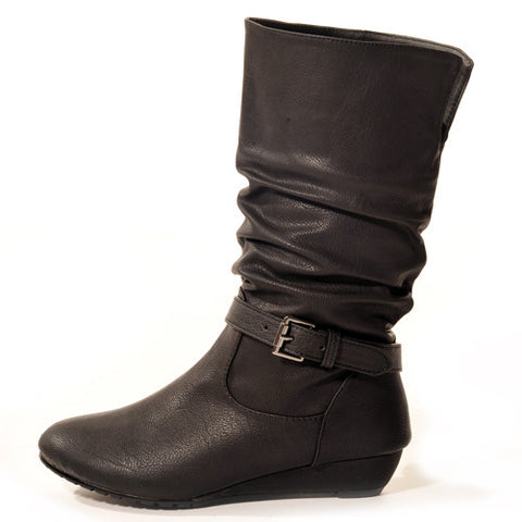 RAPT Wedge Black Stylish Winter Boots