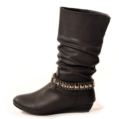 ROXY Wedge Black Stylish Winter Boots