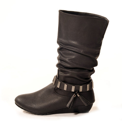 SWING Wedge Black Stylish Winter Boots