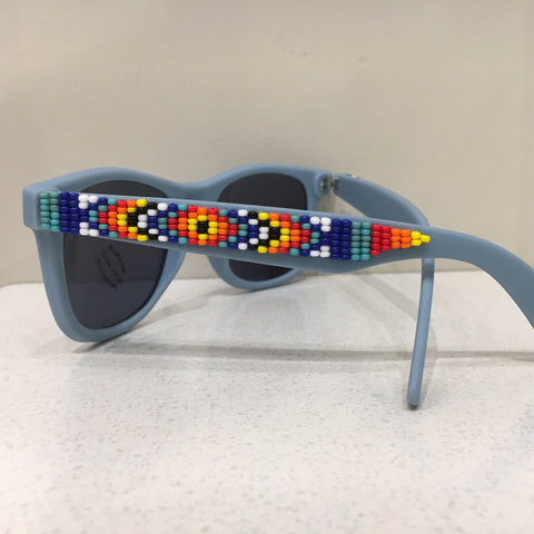 Helen Oro Blue Beaded Sunglasses