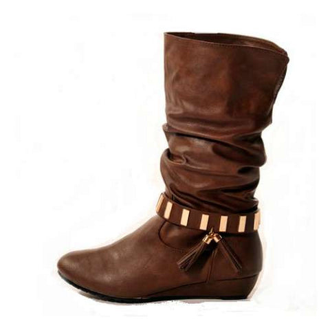 SWING Wedge Brown Stylish Winter Boots
