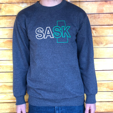 Grey SASK Crewneck Sweatshirt