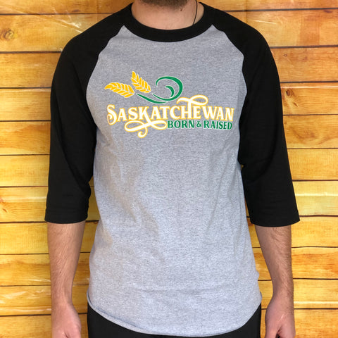Saskatchewan Born and Raised Baseball Shirt