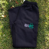 Black SASK Sweatpants Straight Leg (No Elastic Cuff)