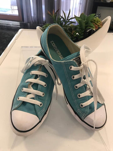 Converse All Star Turquoise Canvas Boys Girls Tennis Sneaker