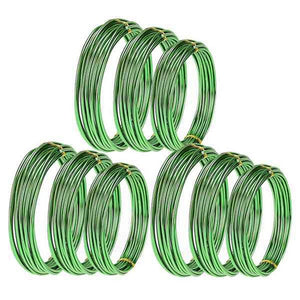 9 Pcs 147ft Anodized Aluminium Bonsai Training Wire in 3 Sizes