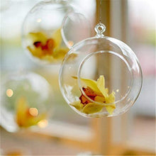 Load image into Gallery viewer, Clear Hanging Ball Glass Flower Pot
