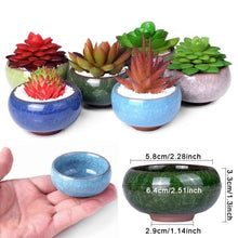 Load image into Gallery viewer, Cute Mini Ceramic Ice-Crack Glaze Flower Pot