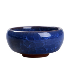 Cute Mini Ceramic Ice-Crack Glaze Flower Pot
