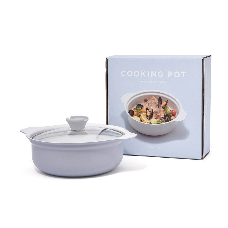 AMURE COOKING POT 24CM GREY
