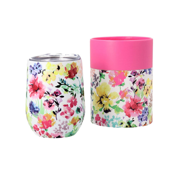 CHICK Stainless Tumbler Flower WHITE