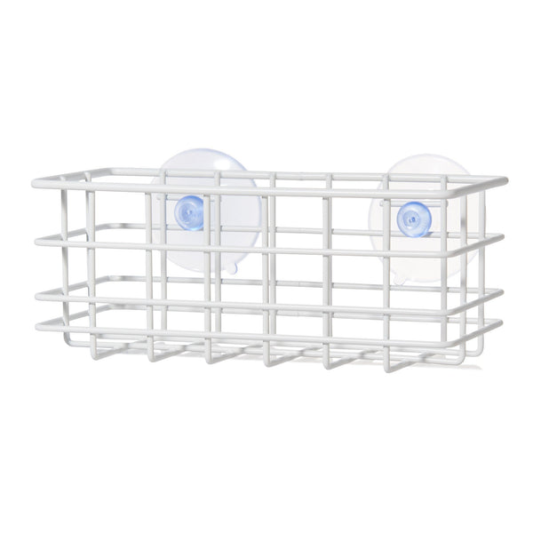 WIRE SPONGE&BOTTLE STAND WH