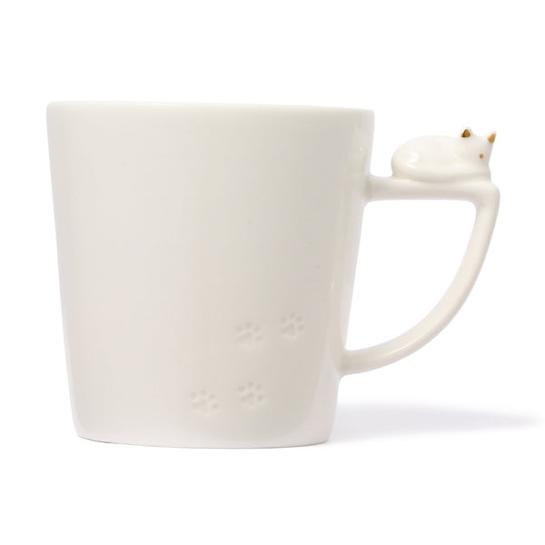 CAT FIGURE MUG WHITE