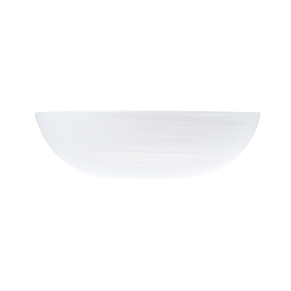 MARBLE GLASS BOWL LARGE WHITE