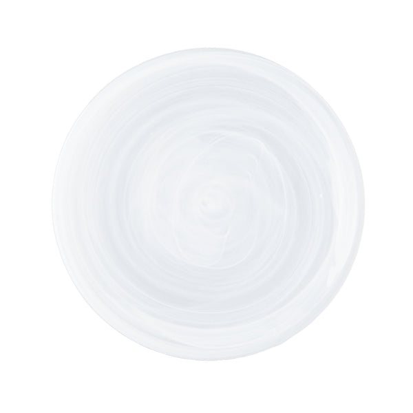 MARBLE GLASS PLATE SMALL WHITE