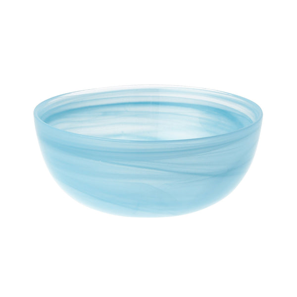 MARBLE GLASS BOWL MEDIUM BLUE