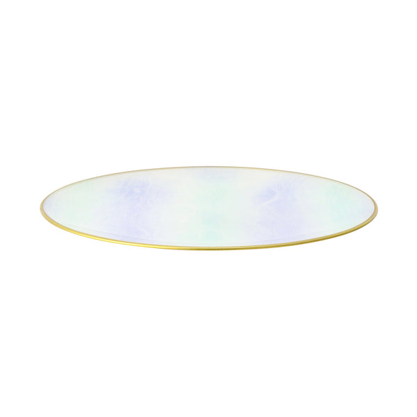 MIX MARBLE GLASS PLATE LARGE GREEN x PURPLE