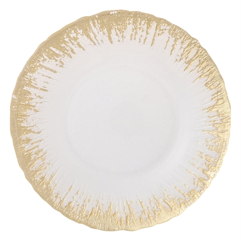 FLASH Glass Plate Medium Gold