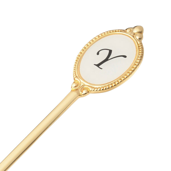 ALPHABET Tea Spoon Gold Y