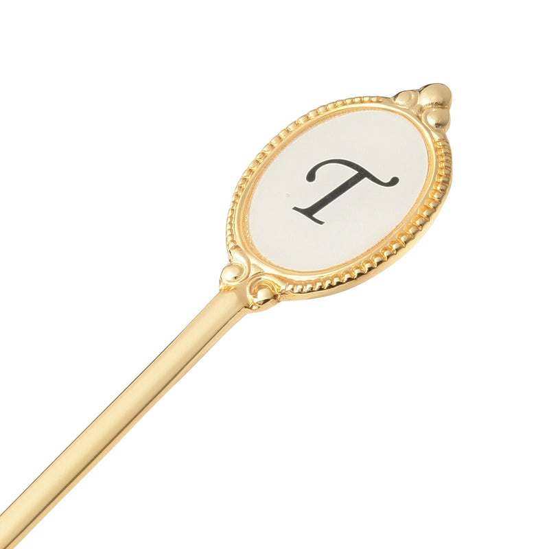 ALPHABET Tea Spoon Gold T