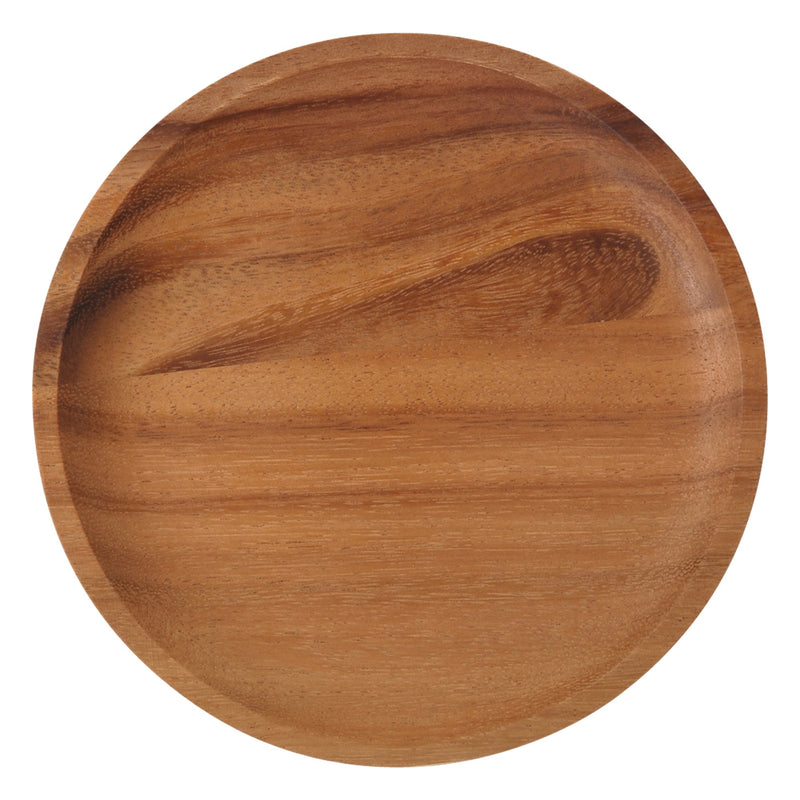 WOODEN Round Plate MediumDark Brown