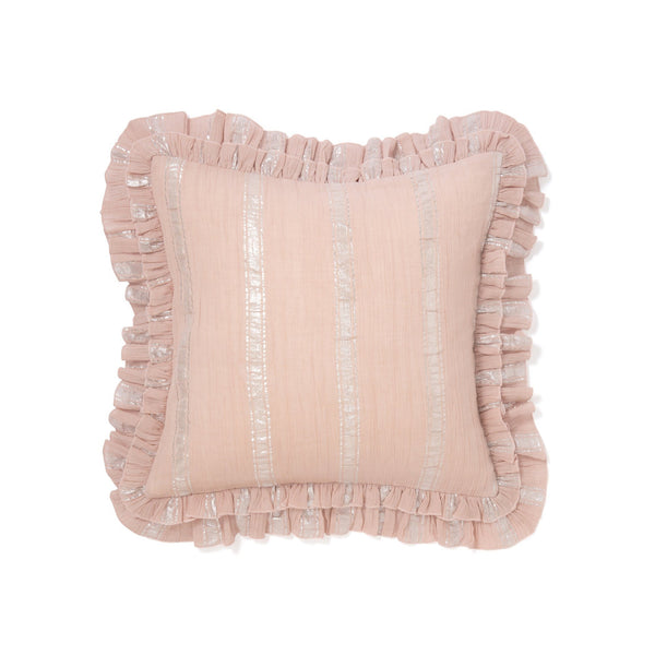 FRILL STRIPE CUSHION COVER 45 LPK