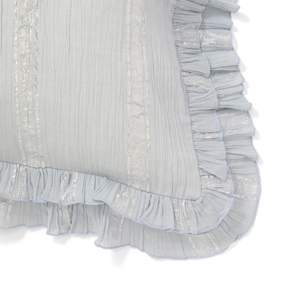FRILL STRIPE CUSHION COVER 45 LBL