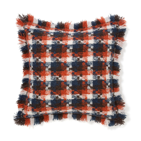 MOHAIR CHECK CUSHION COVER 45 ORXNV