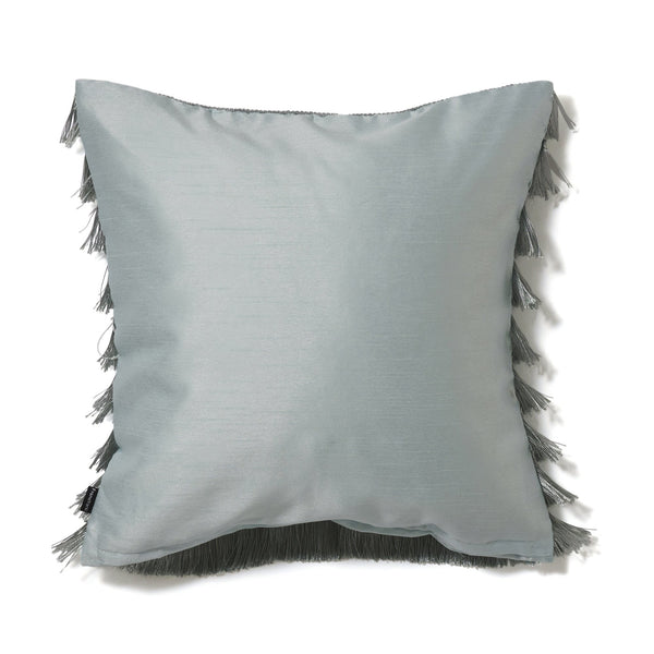 BORDER FRINGE CUSHION COVER 45 Light Green