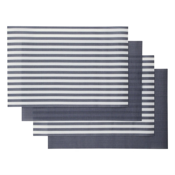 QUATRE Lunch Mat 4P Set Navy