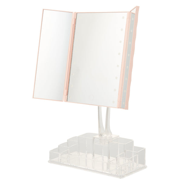 LAMILA LED TRIPLE MIRROR Pink