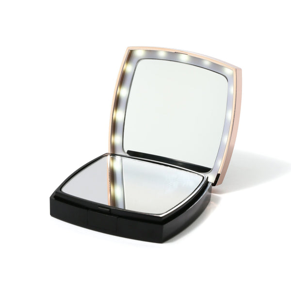 BLANCHE LED COMPACT MIRROR Black