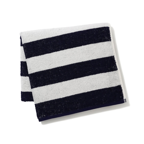 20SUMMER VALE BATH TOWEL Border Navy