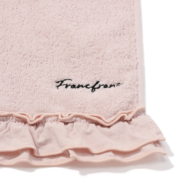 FRILLS FACE TOWEL Pink