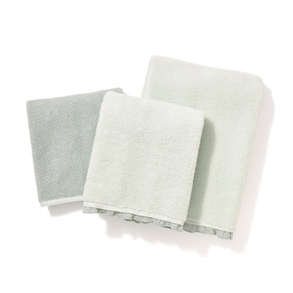 FUWASARA Bath and Face Towel Set Green