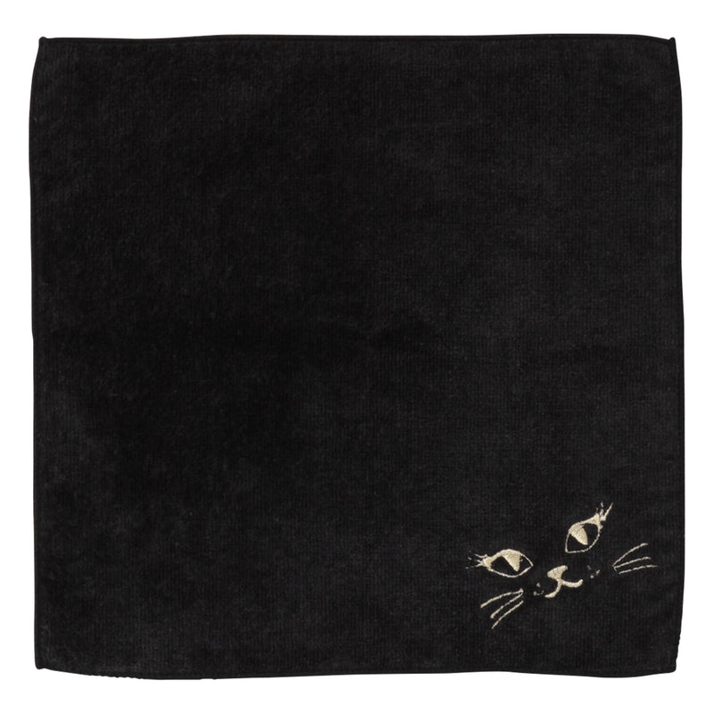 BALLOT Hand Towel Cat Face Black