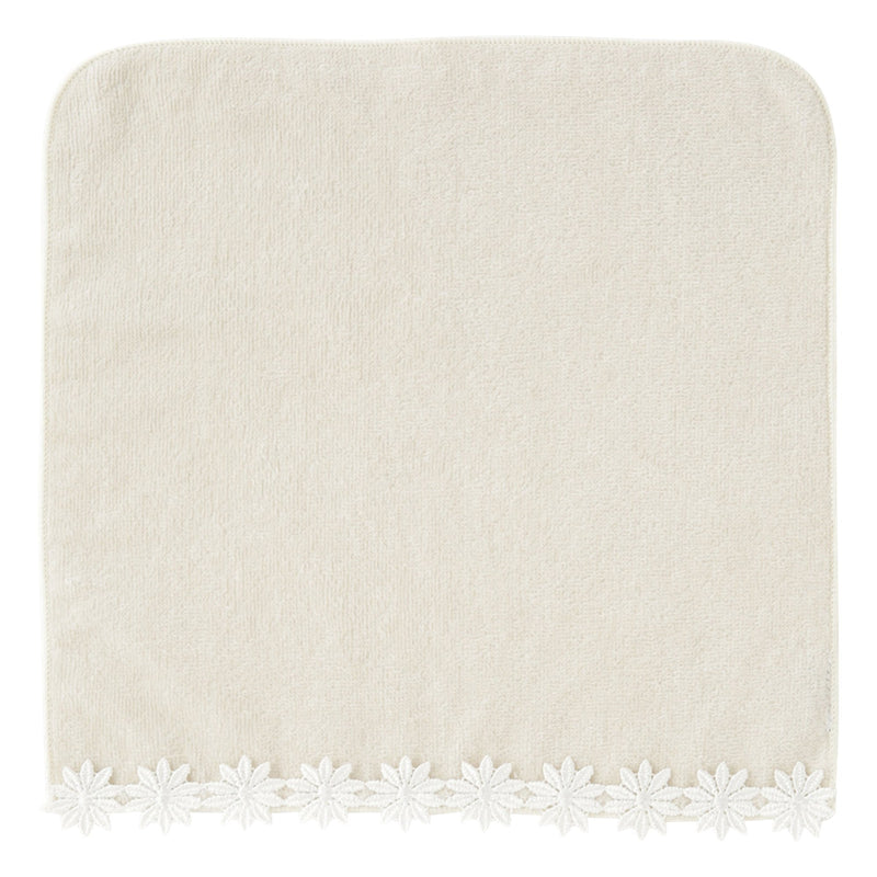 BALLOT Hand Towel Floret Lace Light Gray