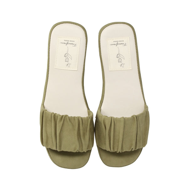 SHIRRING Roomshoes GREEN
