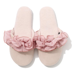 CHIFFON ROOM SHOES FRILL Pink
