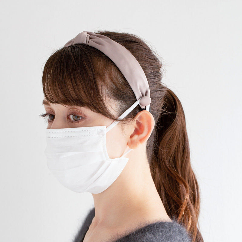 Mask holder hair band Light Gray