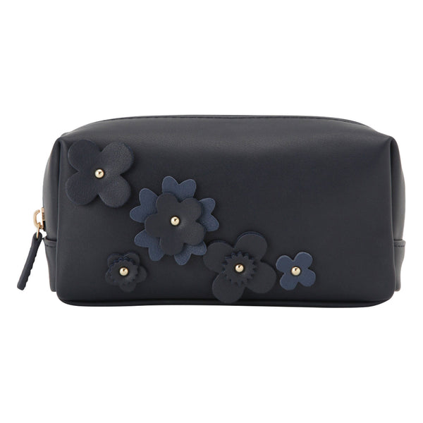 FLOWER Motif Square Pouch Navy