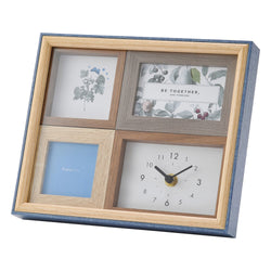 PHOTOFRAME With Clock Blue