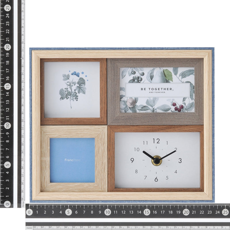 PHOTOFRAME With Clock White