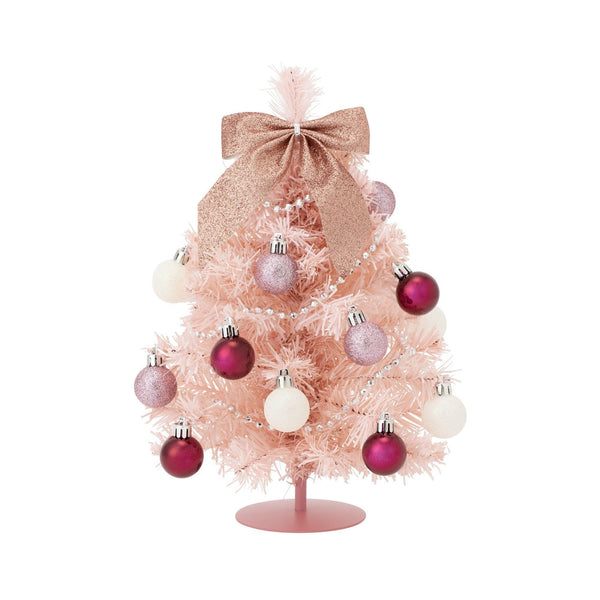 20XMAS DESKTOP SET TREE S PINK