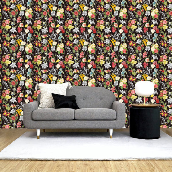 REMOVABLE Wall Paper Black