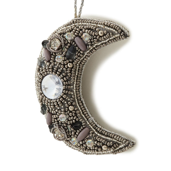 BEADS ORNAMENT MOON BK