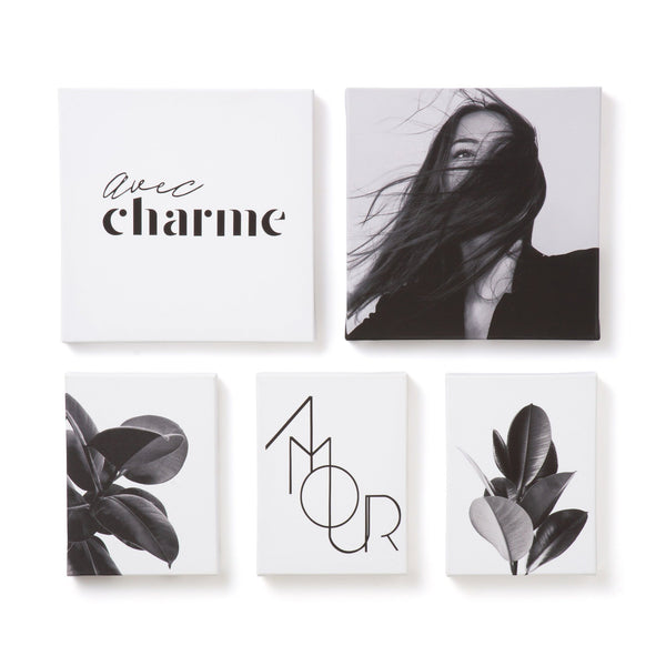 ART BOARD SET OF 5 AMOUR